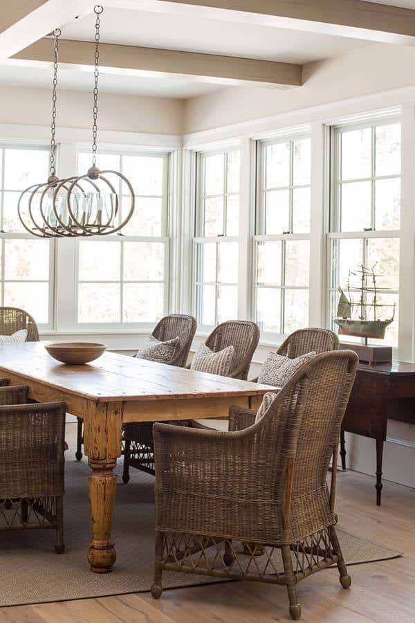 Rustic Cottage Maine Nicolas Home 06 1 Kindesign. A Farmhouse Style Dining  Table ...