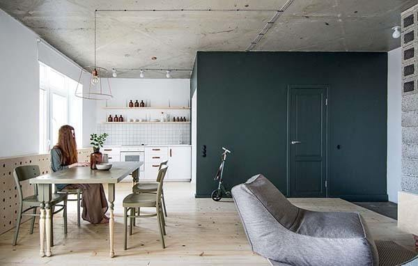 Small Apartment Featuring Scandinavian Minimalism In Russia