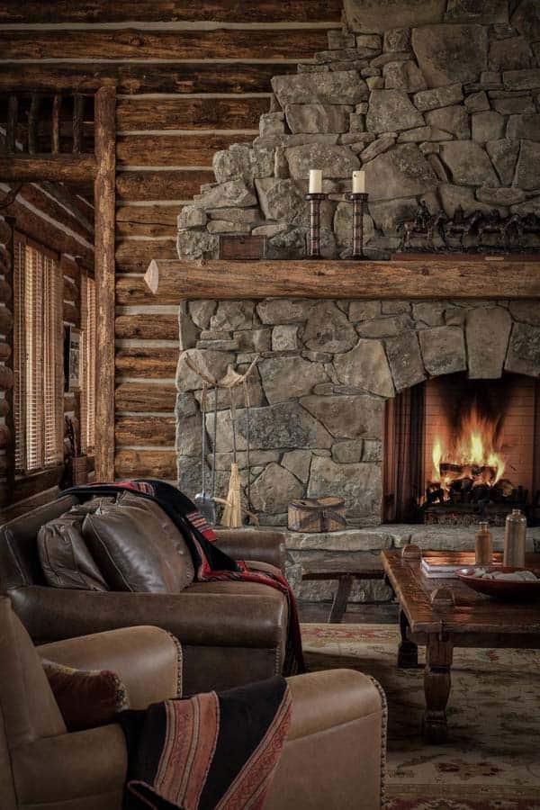 Brilliant 50 Sensational Stone Fireplaces To Warm Your Senses Download Free Architecture Designs Grimeyleaguecom