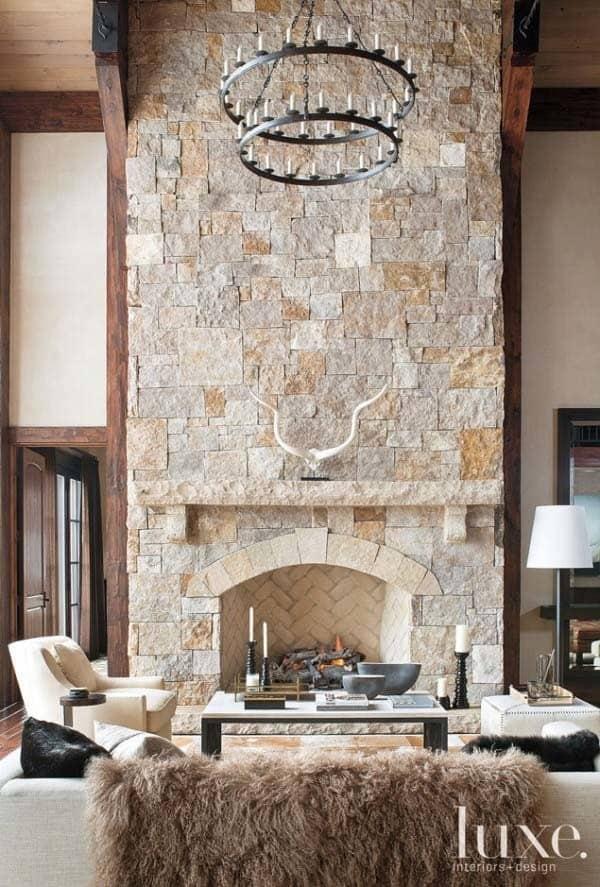 Fine 50 Sensational Stone Fireplaces To Warm Your Senses Download Free Architecture Designs Grimeyleaguecom
