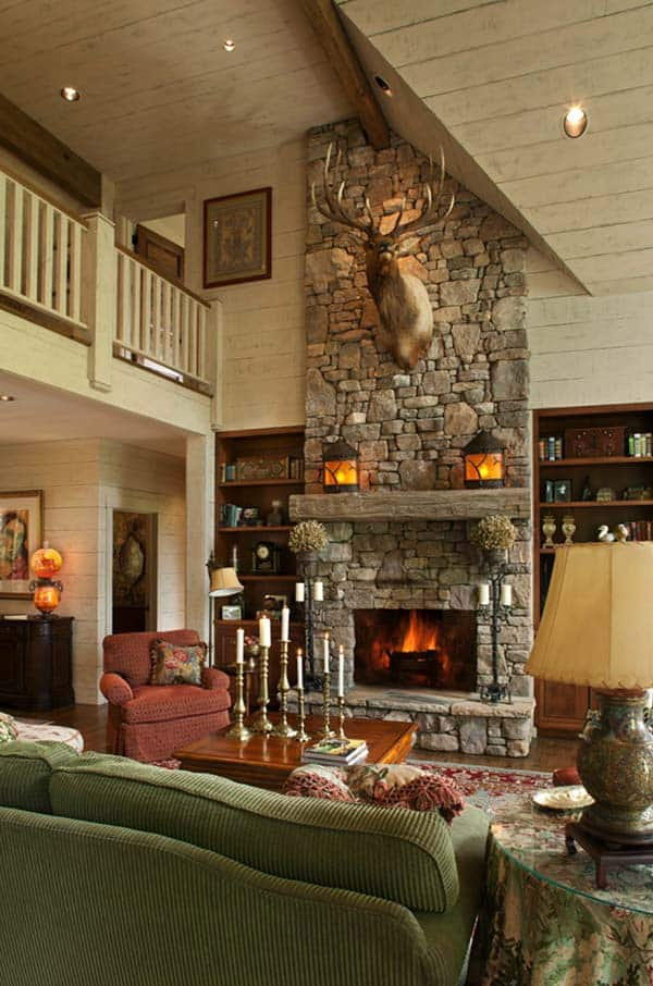 Awesome 50 Sensational Stone Fireplaces To Warm Your Senses Home Interior And Landscaping Ferensignezvosmurscom