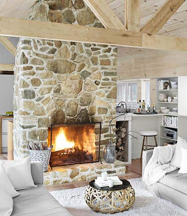 Stone Fire Place Ideas: 50 Sensational Stone Fireplaces To Warm Your Senses