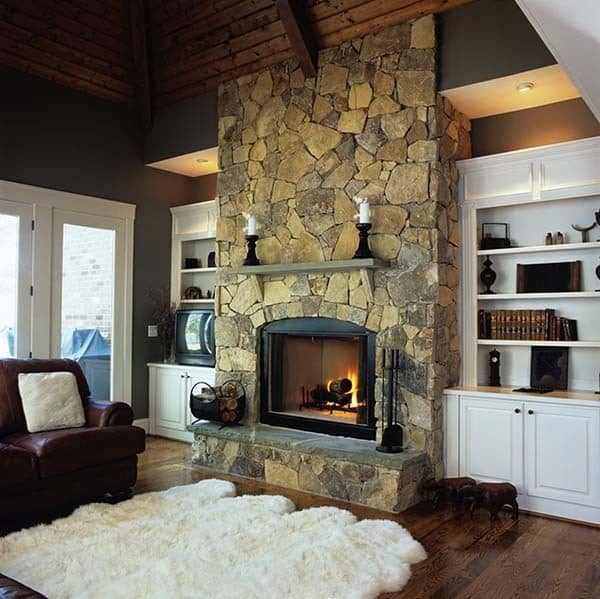 Fireplace Hearth Ideas: 50 Sensational Stone Fireplaces To Warm Your Senses
