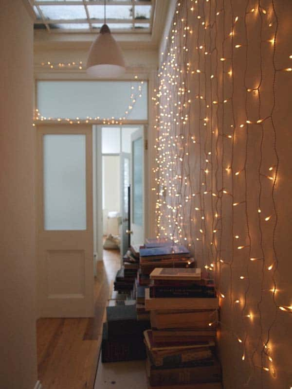 45 inspiring ways to decorate your home with string lights string lights home decor 007 1 kindesign aloadofball Choice Image
