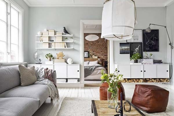 featured posts image for Bright and compact Swedish apartment exhibiting an efficient layout