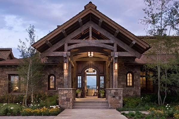 featured posts image for Contemporary rustic Wyoming retreat with Southern charm