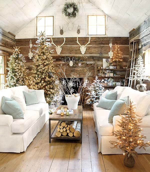 50 christmas decorated interiors for a winter wonderland - Winter Wonderland Christmas Decorations
