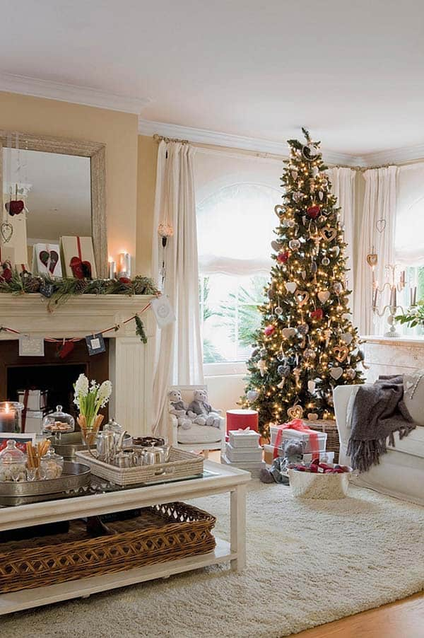 Christmas Tree Living Room Ideas.50 Christmas Decorated Interiors For A Winter Wonderland