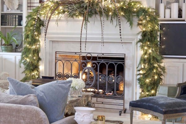 featured posts image for 50+ Absolutely fabulous Christmas mantel decorating ideas