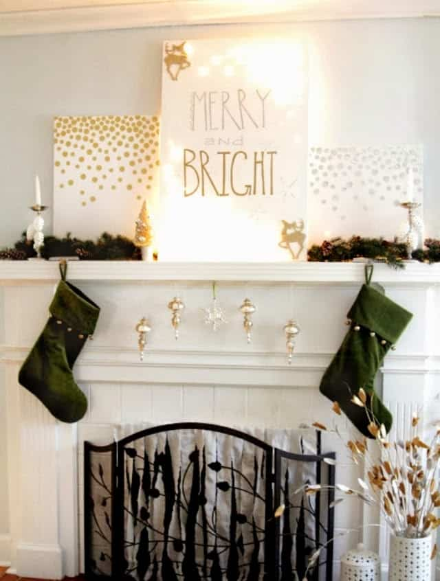 Christmas Mantel Decorating Ideas-03-1 Kindesign