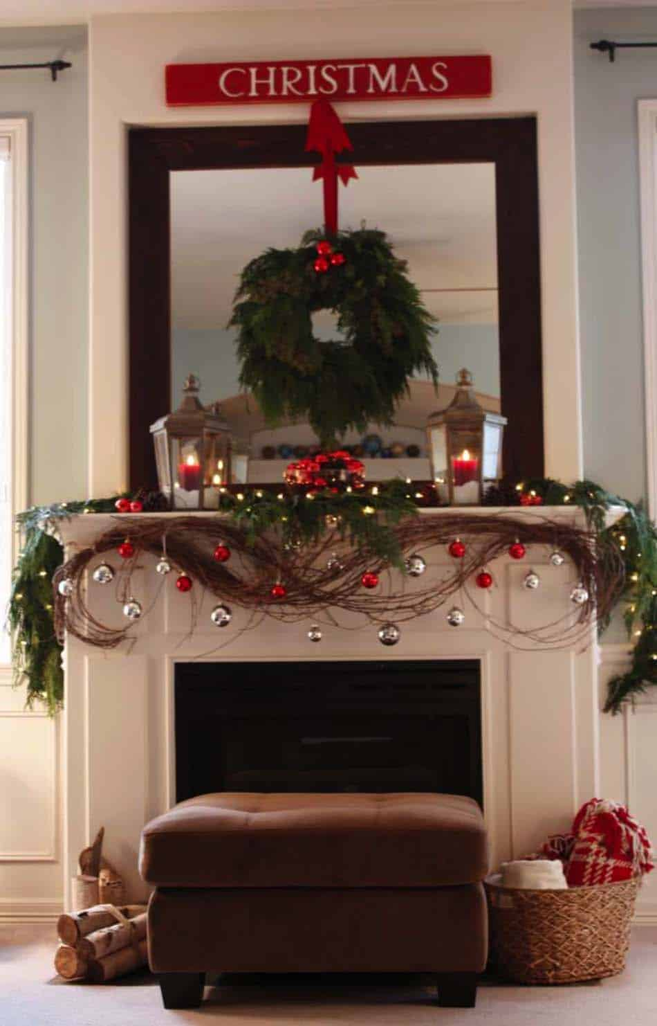 Christmas Mantel Decorating Ideas 04 1 Kindesign