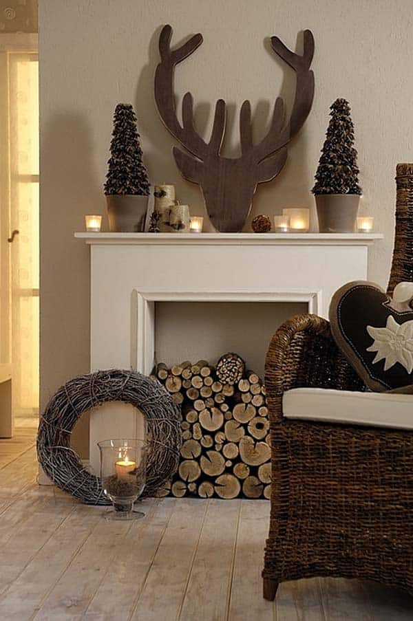 Christmas Mantel Decorating Ideas-05-1 Kindesign
