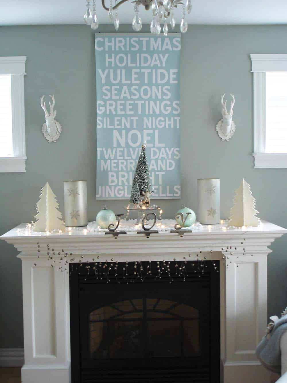 Christmas Mantel Decorating Ideas-11-1 Kindesign