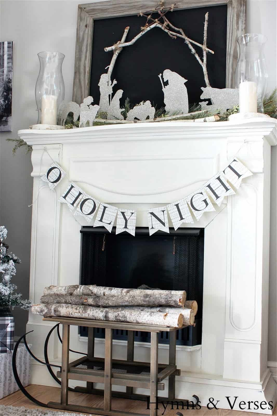 Christmas Mantel Decorating Ideas-12-1 Kindesign