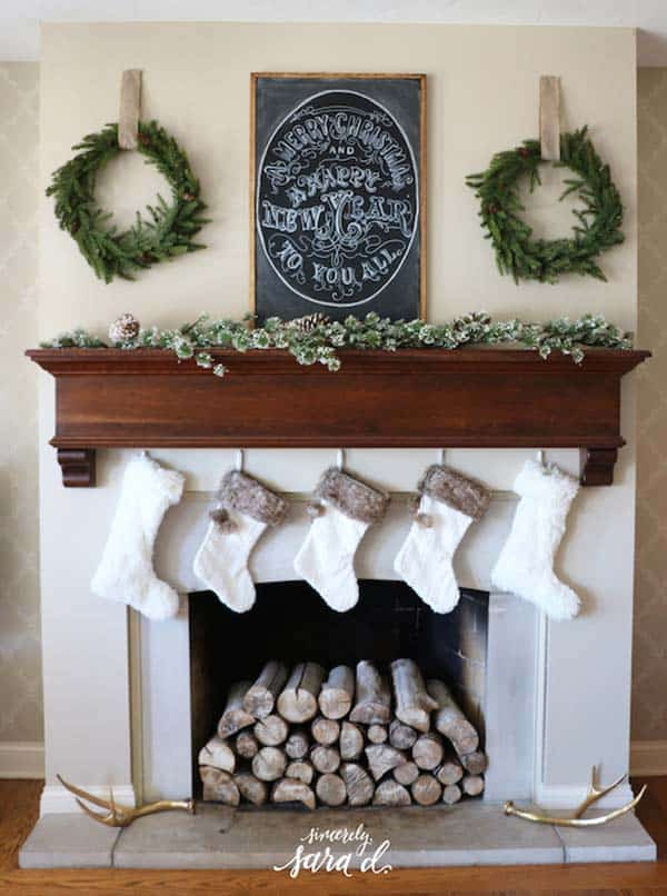 Christmas Mantel Decorating Ideas-22-1 Kindesign
