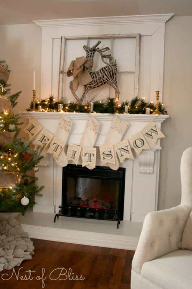 Christmas Mantel Decorating Ideas-24-1 Kindesign