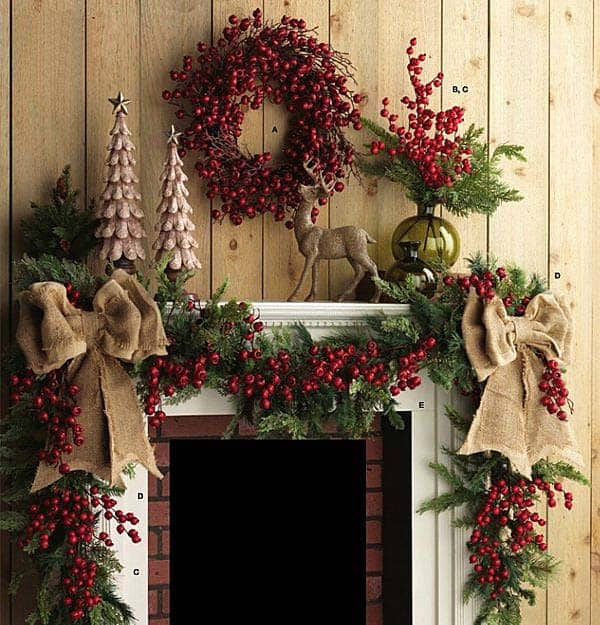 christmas mantel decorating ideas 25 1 kindesign - Pictures Of Mantels Decorated For Christmas