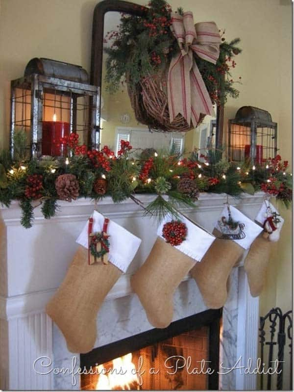 Christmas Mantel Decorating Ideas-26-1 Kindesign