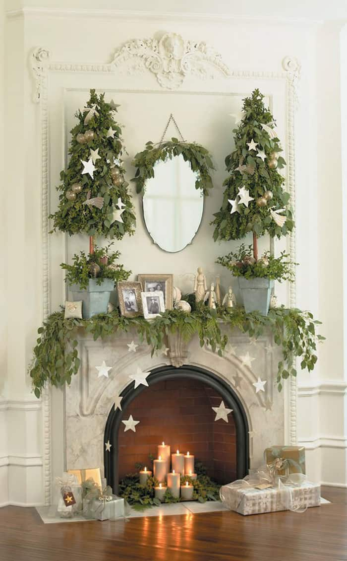 Christmas Mantel Decorating Ideas-27-1 Kindesign
