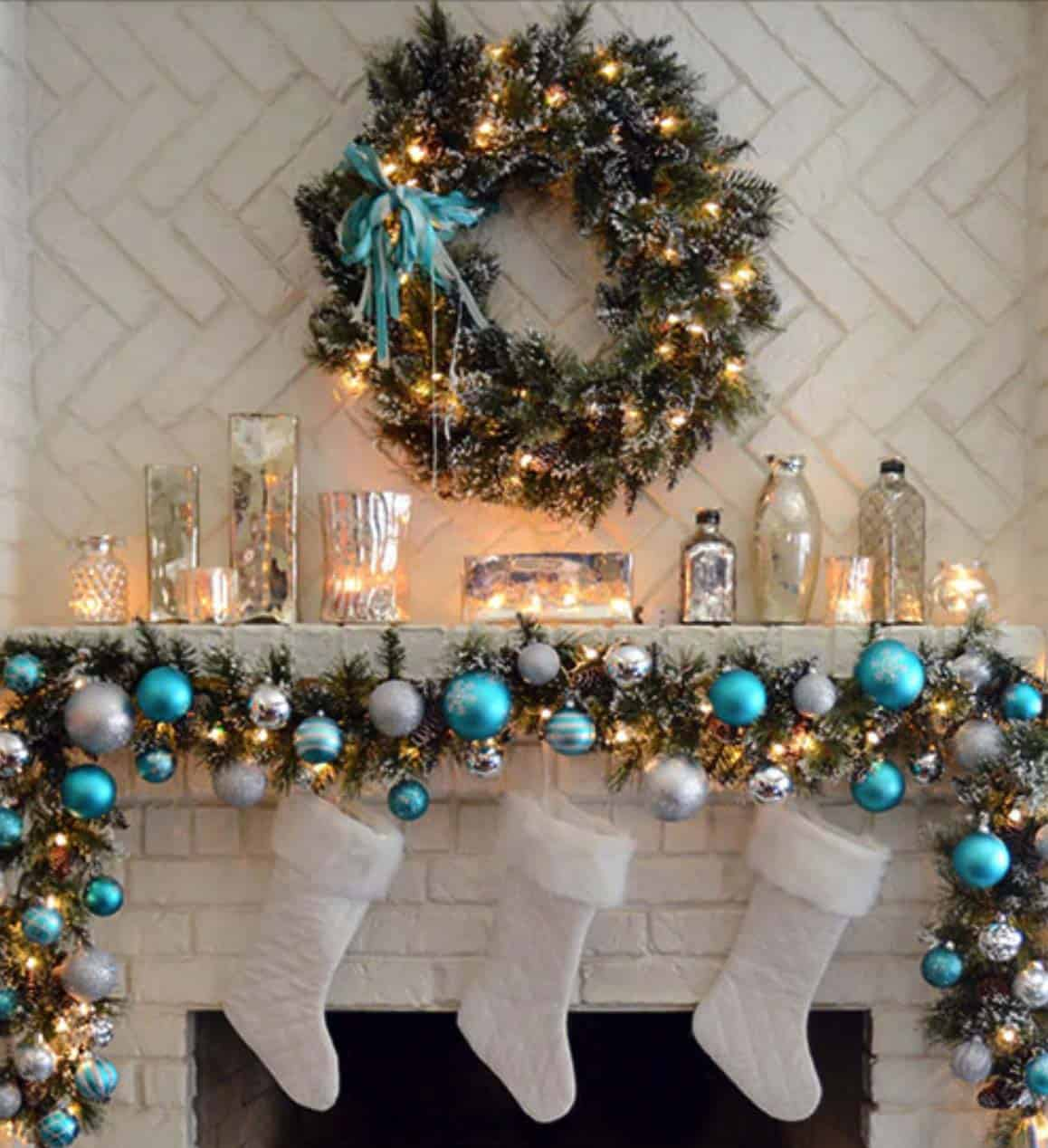 christmas mantel decorating ideas 51 1 kindesign - Christmas Mantel Decorating Ideas
