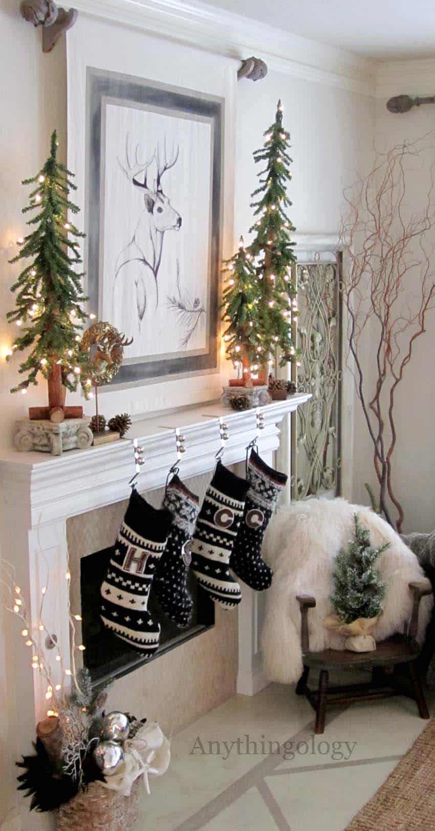 Christmas Mantel Decorating Ideas-55-1 Kindesign