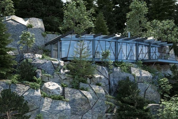 featured posts image for Modern steel and glass dwelling in the Colorado mountains