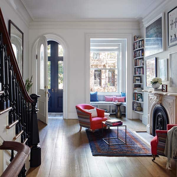 Clinton Street Townhouse renovation by Lang Architecture.