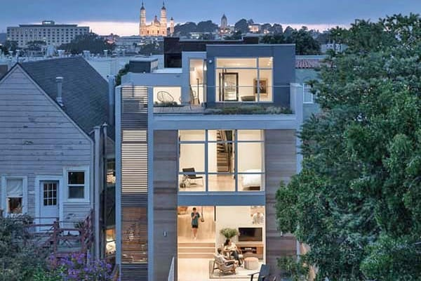 featured posts image for Modern townhouse in San Francisco designed for playful living