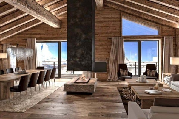 featured posts image for Luxury ski chalet offering mesmerizing views over the Matterhorn