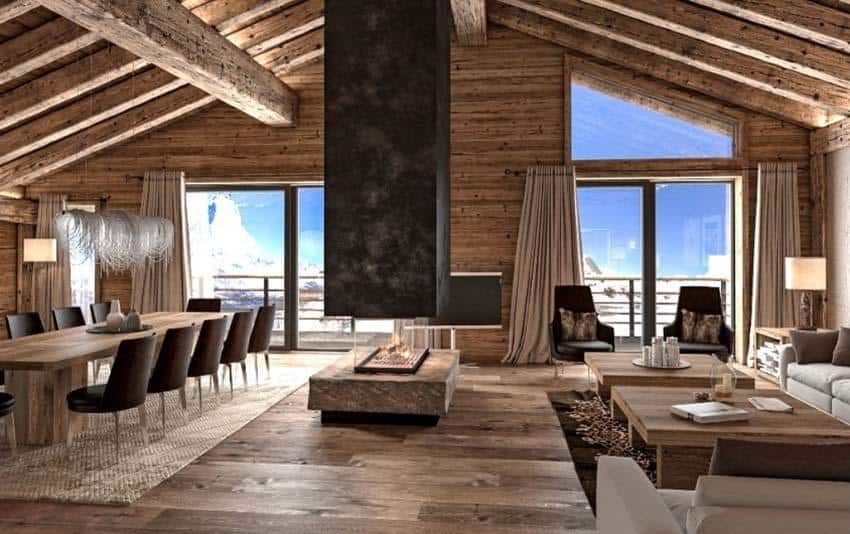 luxury ski chalet offering mesmerizing views over the matterhorn. Black Bedroom Furniture Sets. Home Design Ideas