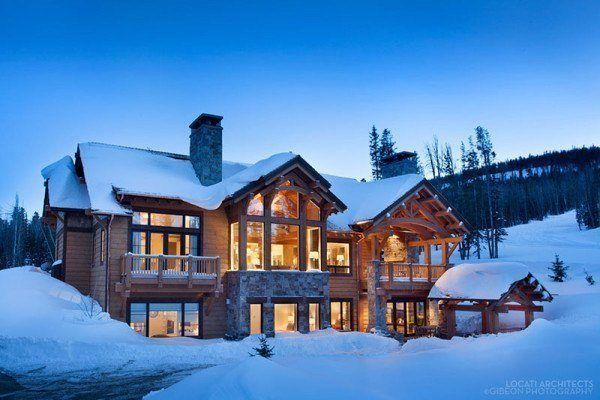 featured posts image for Winter warmth in a fabulous Montana mountain retreat