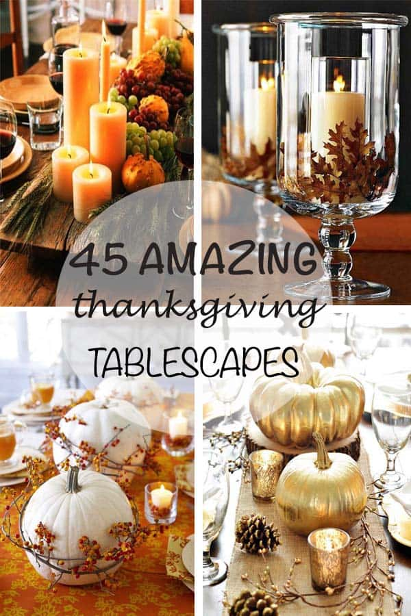 Thanksgiving Dining Room Table Decorating Ideas
