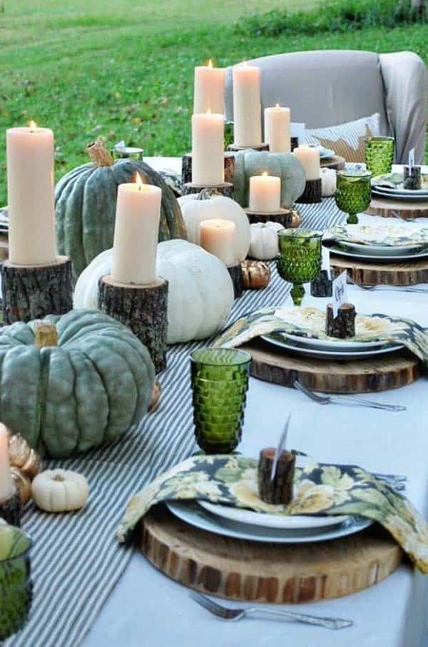 47 fabulous diy ideas for thanksgiving table decor - Thanksgiving dinner table decorations ...
