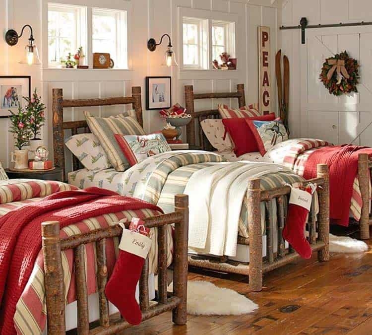 Christmas Bedroom Decorating Ideas-03-1 Kindesign
