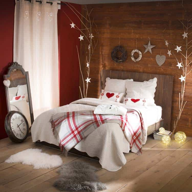Christmas Bedroom Decorating Ideas-07-1 Kindesign