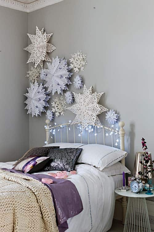 Christmas Bedroom Decorating Ideas-09-1 Kindesign & 35 Ways to create a Christmas wonderland in your bedroom