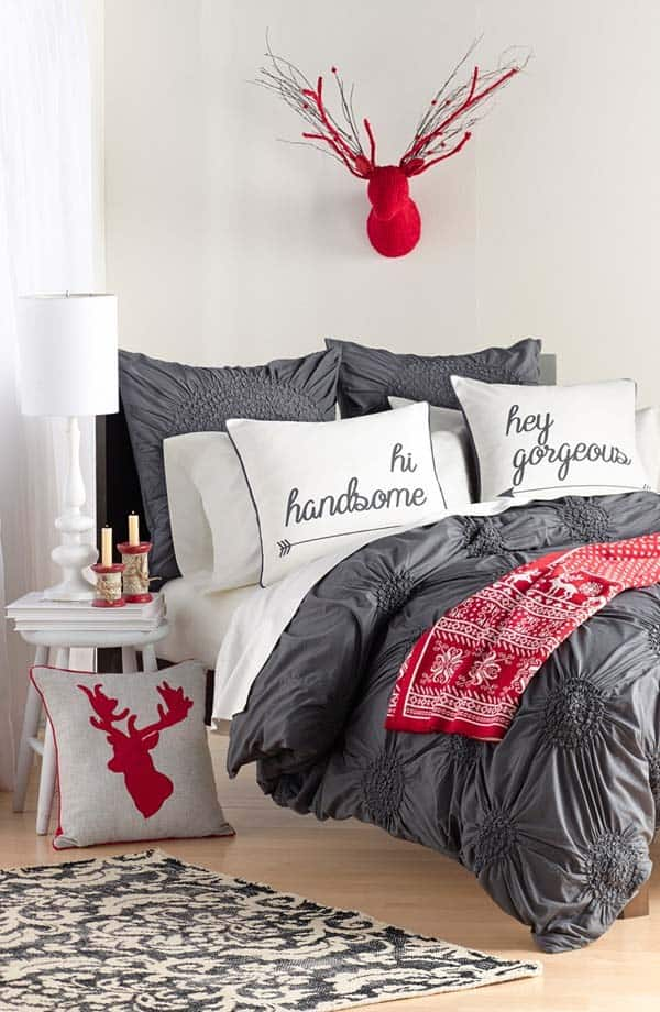 Christmas Bedroom Decorating Ideas-13-1 Kindesign