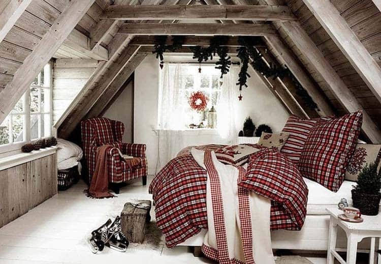 Christmas Bedroom Decorating Ideas-15-1 Kindesign