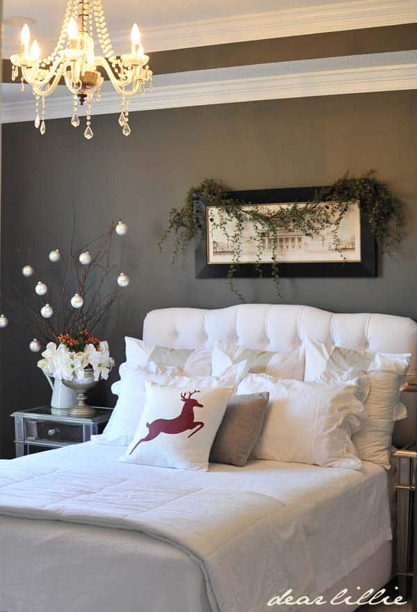Christmas Bedroom Decorating Ideas-16-1 Kindesign