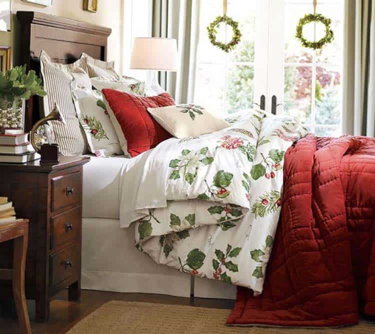 christmas bedroom decorating ideas 23 1 kindesign - How To Decorate Your Bedroom For Christmas