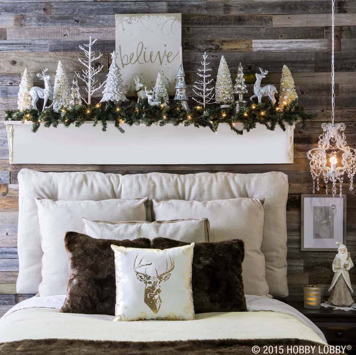 Holiday Bedroom Decorating Ideas Part - 28: Christmas Bedroom Decorating Ideas-26-1 Kindesign
