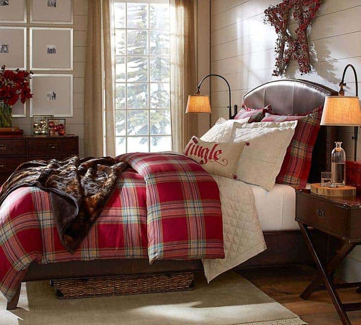 Christmas Bedroom Decorating Ideas-31-1 Kindesign