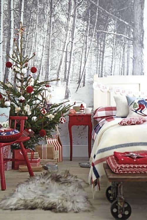Christmas Bedroom Decorating Ideas-34-1 Kindesign