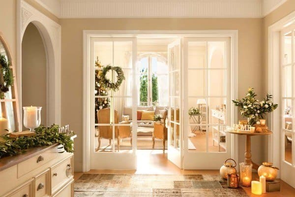 featured posts image for Nordic style holiday decorated home in shimmering gold and white
