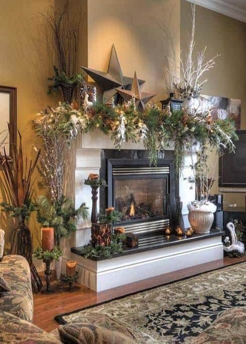 Christmas Decorated Spaces-19-1 Kindesign