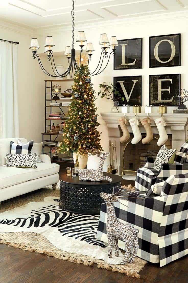 Christmas Decorated Spaces-37-1 Kindesign