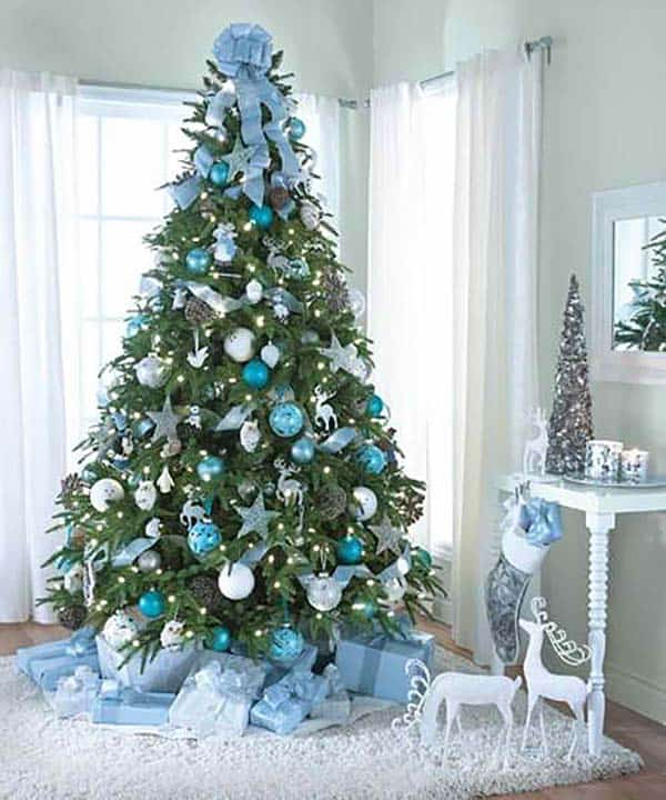 christmas tree decoration ideas 11 1 kindesign - Blue Christmas Decorations Ideas
