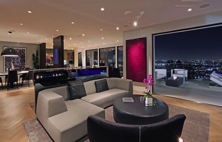 Modern Hollywood Hills Dream Home-06-1 Kindesign