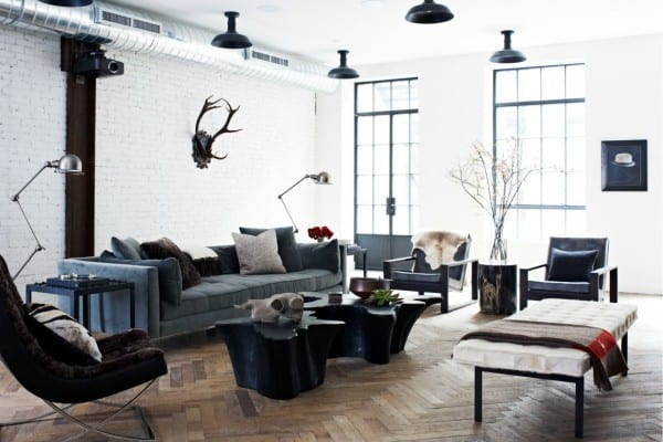 featured posts image for Industrial-chic loft in NoHo features glammed up interiors