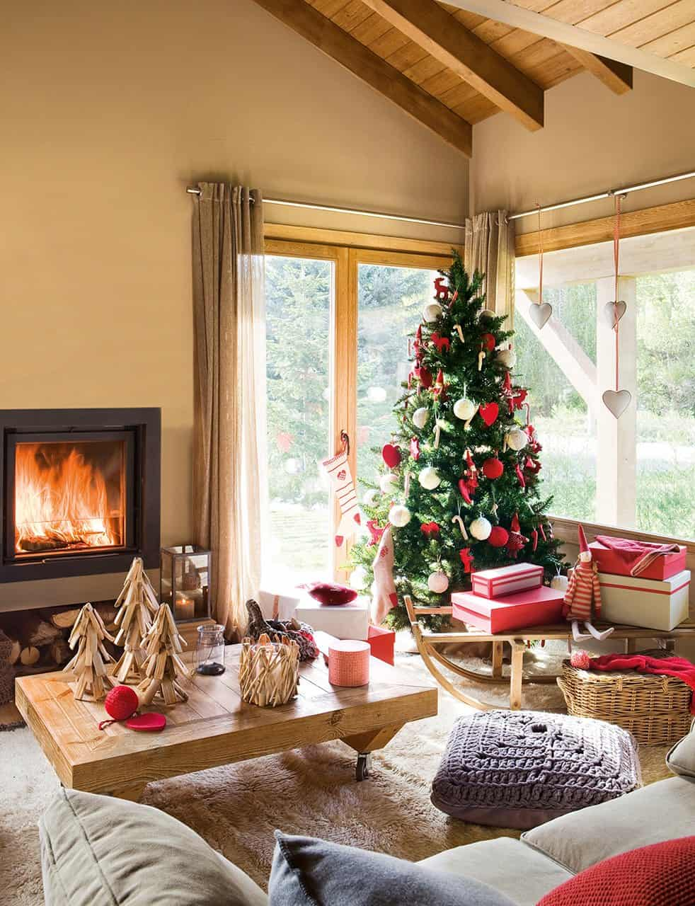 A nordic style home decorated for christmas in spain - Como decorar una mesa en navidad ...